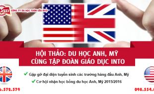 Hội thảo: Cơ hội nhận Học bổng các trường TOP đầu của Anh, Mỹ