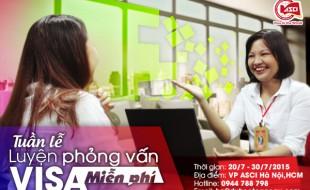Tuần lễ luyện phỏng vấn visa du học miễn phí (20/7 – 30/7/2015)