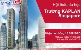 Hội thảo du học Singapore trường Kaplan, cơ hội nhận học bổng tới 10,000 SGD