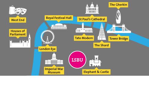 London South Bank University  map
