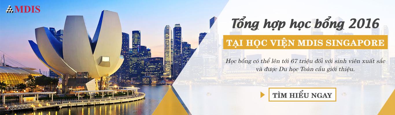 học bổng singapore mdis