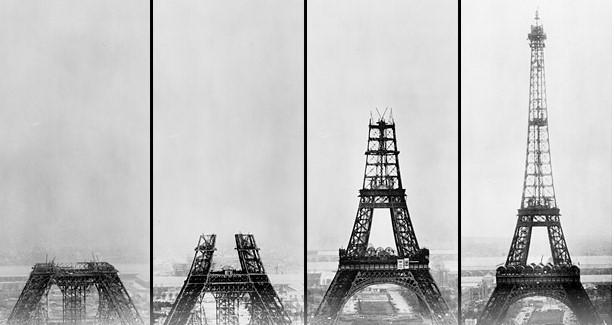Quá trình xây dựng tháp Eiffel