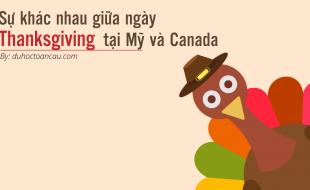 Sự khác nhau giữa ngày thanksgiving Mỹ và canada