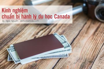 Kinh nghiệm chuẩn bị hành lý du học Canada