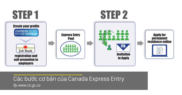 Các bước cơ bản của Canada Express Entry - Theo www.cic.gc.ca