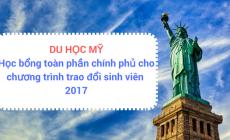 Du học Mỹ: Học bổng toàn phần chính phủ cho chương trình trao đổi sinh viên năm 2017