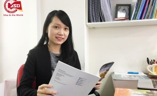 Chị Hồ Thu Hoài - Quản lý chương trình Du học Mỹ - Công ty Du học Toàn cầu ASCI