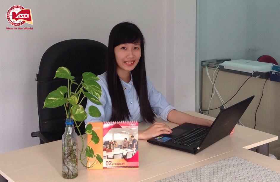 Chị Mỹ Hạnh - Chuyên viên tư vấn Du học Mỹ , chi nhánh TP.HCM Công ty Du học Toàn cầu ASCI