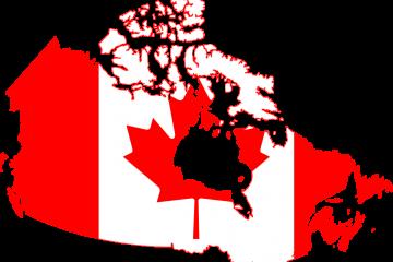 Canada-flag-map