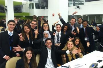 Sinh viên Pace University trong buổi Hội thảo mô phỏng Liên Hợp Quốc