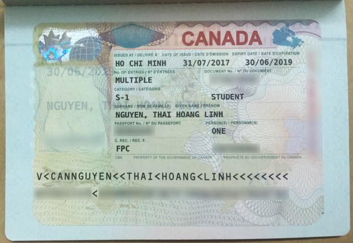 Tấm visa du học Canada đã mở ra một tương lai mới cho Linh