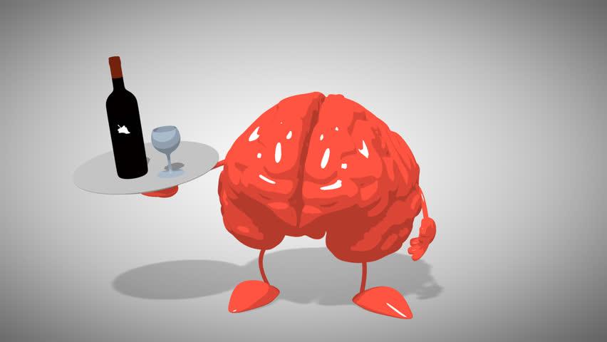 wine and brain