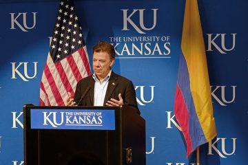 President Santos at KU: 2012