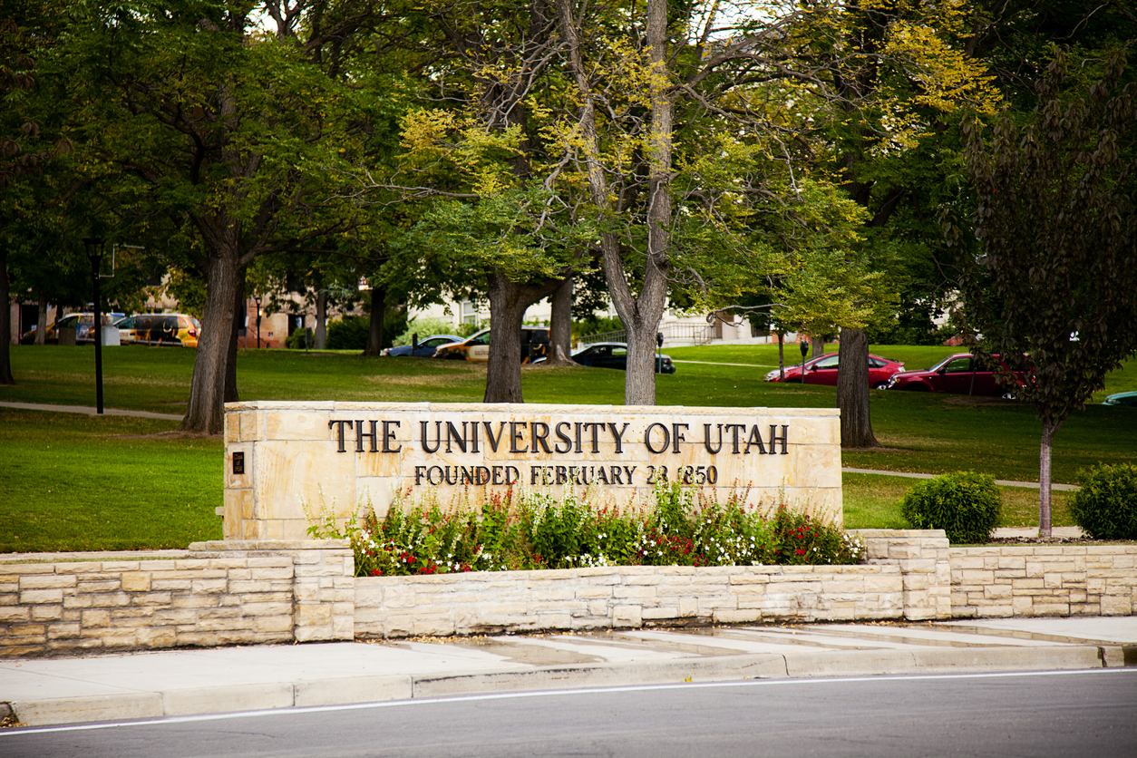 University Signage, Salt Lake City, Utah, USA