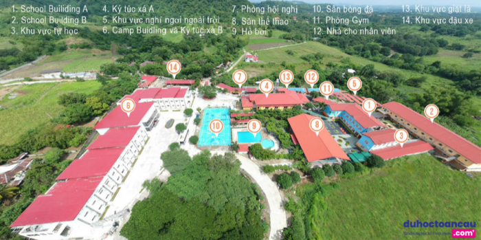 Khuôn viên trường SMEAG, Tarlac địa điểm tổ chức trại hè năm 2020 Philippines