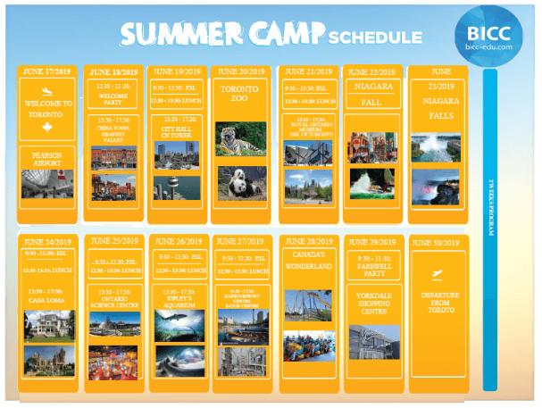 Lịch khám phá trại hè BICC 2019