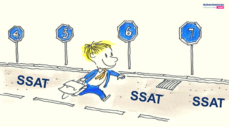 SSAT được thiết kế để đánh giá khả năng của học sinh trong các môn học cốt lõi tại trường trung học.