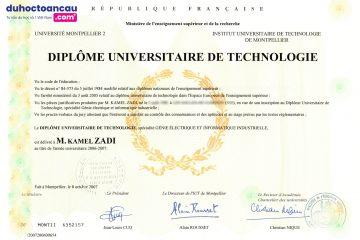 Bằng DUT (Bằng Đại học công nghệ) được cấp tại các trường Đại học tại Pháp