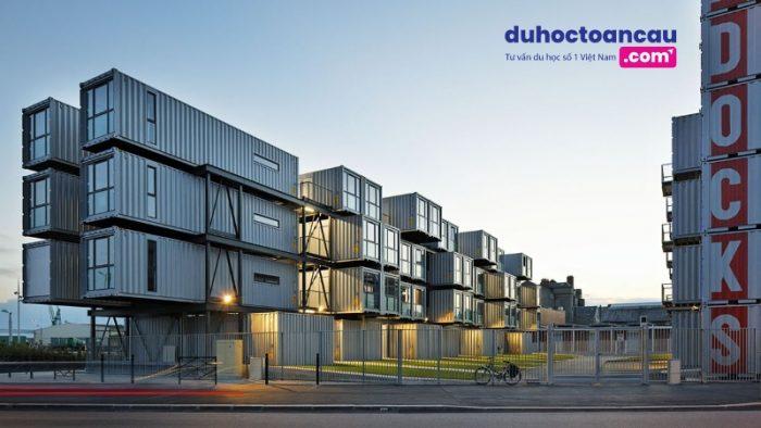 Résidence La Cité A Docks (Le Havre, Pháp), nằm trong top những khu nhà ở sinh viên tuyệt vời nhất thế giới