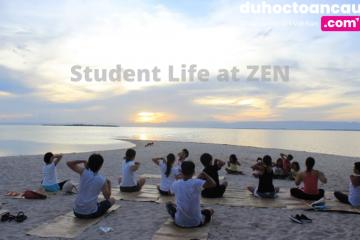 Học viên tại ZEN tập yoga sau giờ học